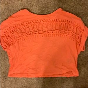 Orange summer crop top from urban